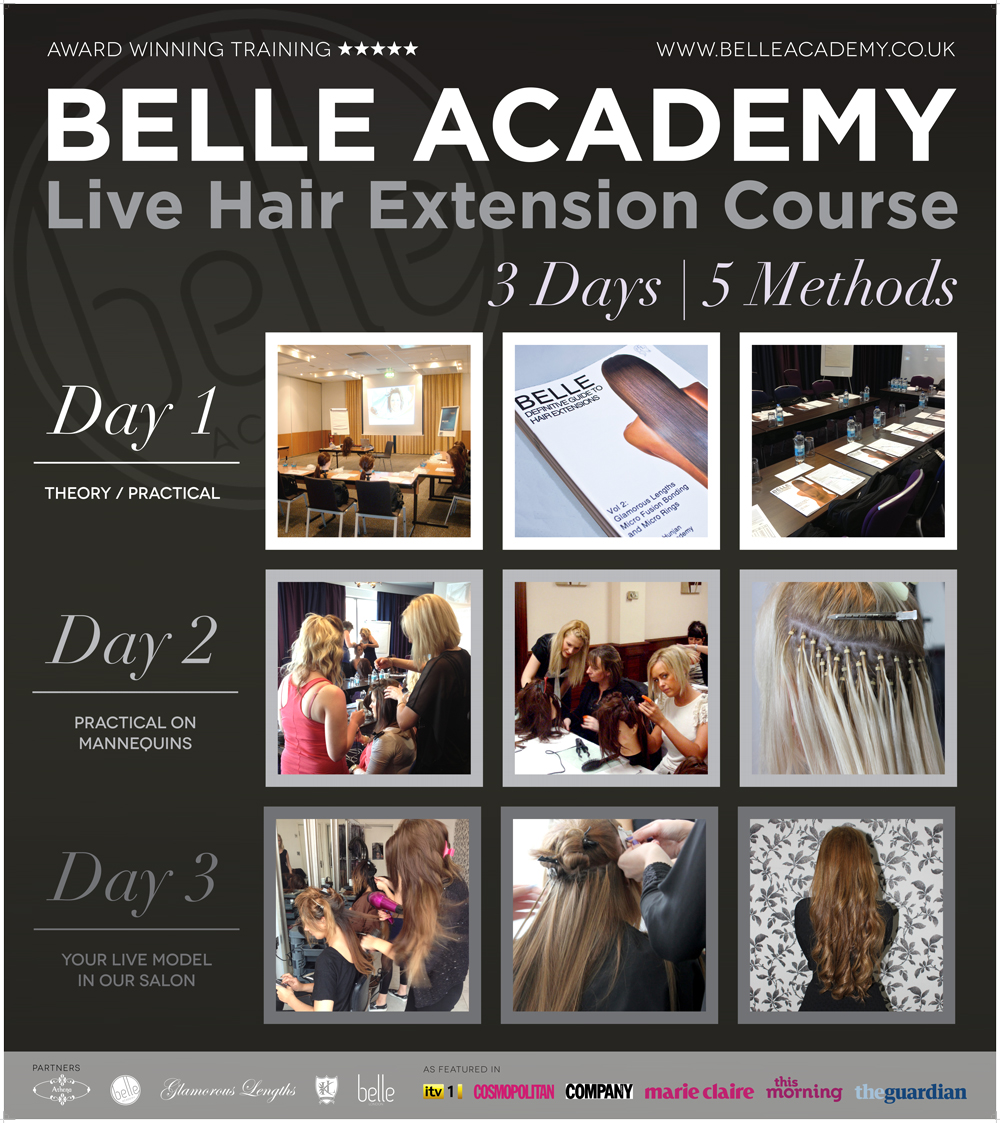 One To One Course Hair Extension Courses Belle Academy Belle Academy
